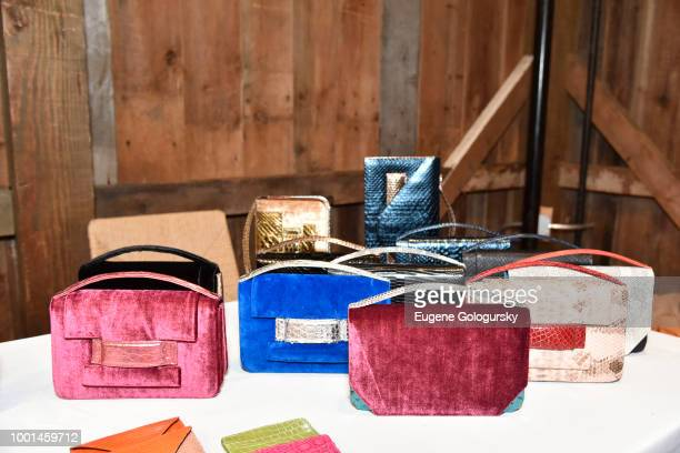 Metalskin display at the Hamptons Magazine London Jewelers Luxury Shopping Afternoon at Topping Rose House on July 18 2018 in Bridgehampton New York