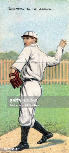 Metamorphic baseball card features baseball player Ed Summers, of the Detroit Tigers, 1911.