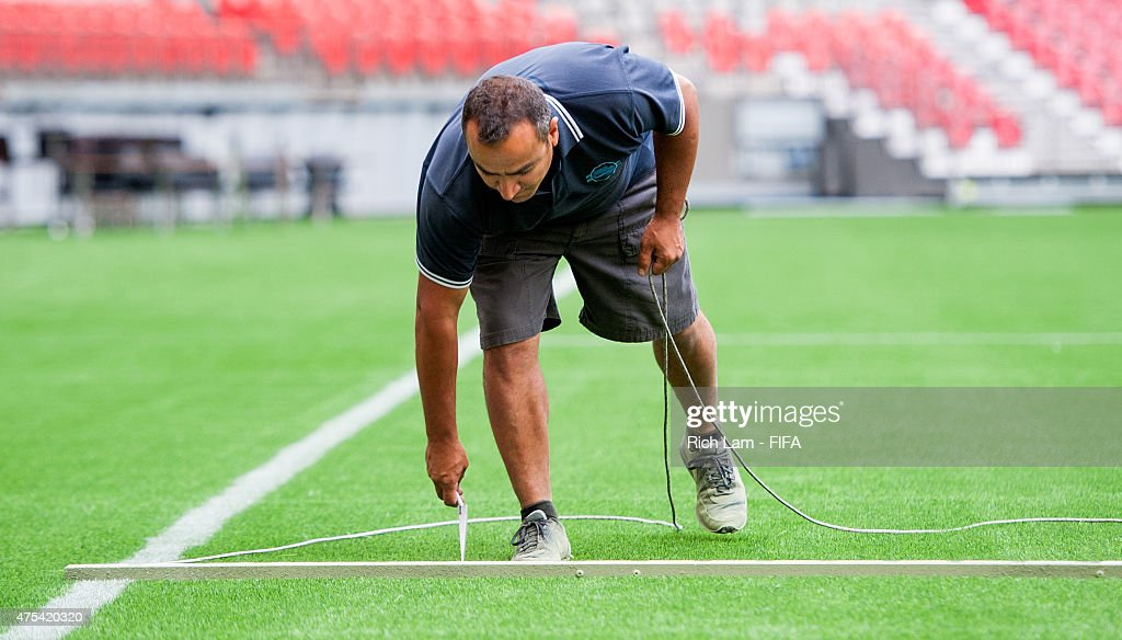 Artificial Turf Testing - FIFA Women's World Cup 2015 : News Photo