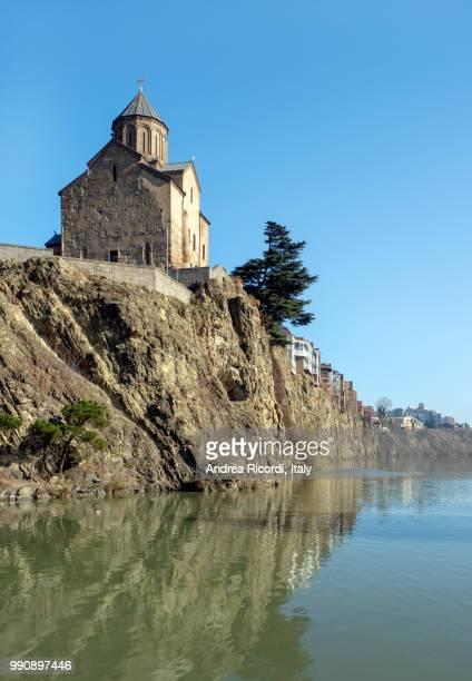 Metekhi Church by Kura river, Tbilisi, Georgia