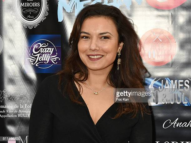 TV meteo presenter Anais Baydemir attends The Meghanora Auction Fashion Show to Benefit Meghanora Children Care Association Photocall at Salon des...