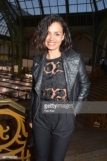 TV meteo presenter Laurence Roustandjee attends the 'Diamond Night by Divinescence Vendome' Harumi Klossowska Jewellery Exhibition Preview As Part Of...
