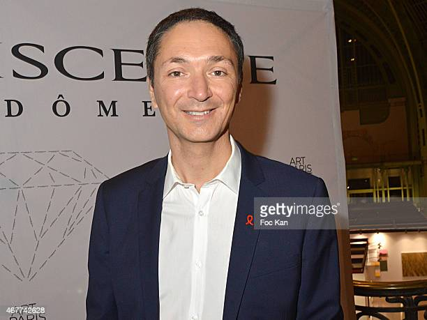 TV meteo presenter Philippe Verdier attends the 'Diamond Night by Divinescence Vendome' Harumi Klossowska Jewellery Exhibition Preview As Part Of Art...