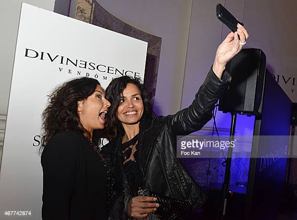 TV meteo presenters Anais Baydemir and Laurence Roustandjee attend the 'Diamond Night by Divinescence Vendome' Harumi Klossowska Jewellery Exhibition...