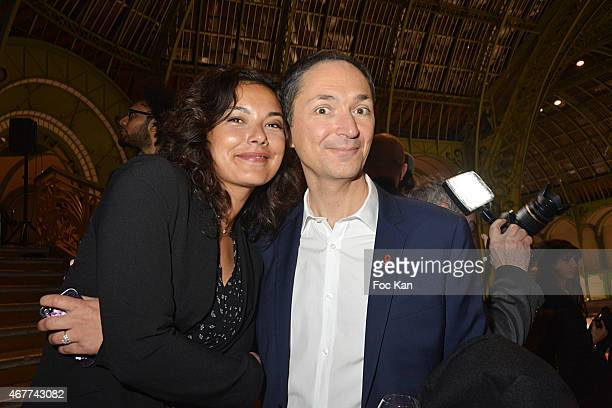 TV meteo presenters Anais Baydemir and Philippe Verdier attend the 'Diamond Night by Divinescence Vendome' Harumi Klossowska Jewellery Exhibition...