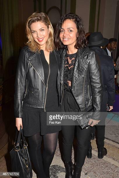 TV meteo presenters Eleonore Boccara and Laurence Roustandjee attend the 'Diamond Night by Divinescence Vendome' Harumi Klossowska Jewellery...
