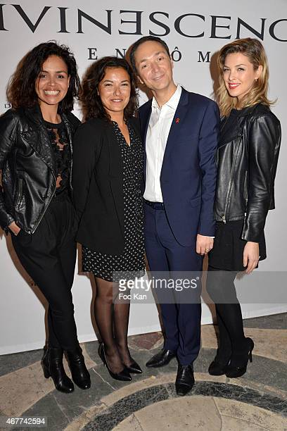 TV Meteo presenters Laurence Roustandjee Audrey Chauveau Anais Baydemir Philippe Verdier and Eleonore Boccara attend the 'Diamond Night by...