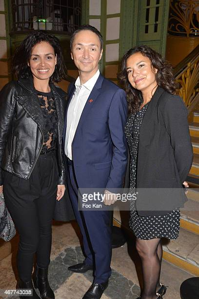 TV meteo presenters Laurence Roustandjee Philippe Verdier and Anais Baydemir attend the 'Diamond Night by Divinescence Vendome' Harumi Klossowska...