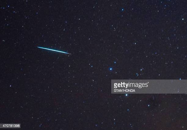 Real Meteor In Space