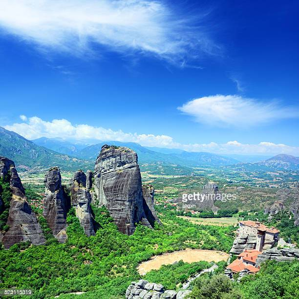meteora, greece - thessaly stock pictures, royalty-free photos & images