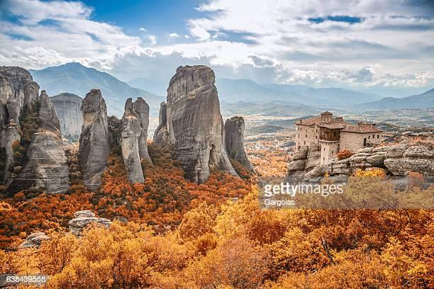 meteora monastery, greece - monastery stock pictures, royalty-free photos & images