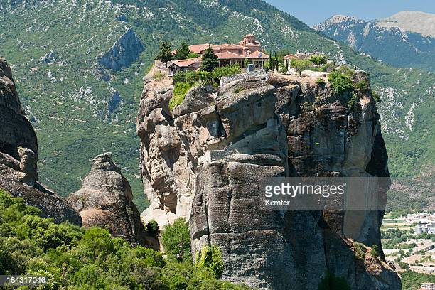 meteora monastery in greece - monastery stock pictures, royalty-free photos & images