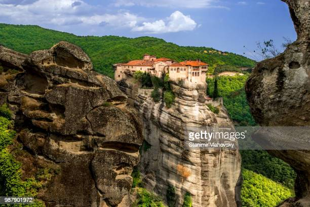 meteora monastery, kalabaka, greece - thessaly stock pictures, royalty-free photos & images