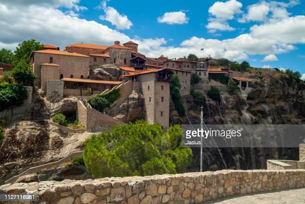 meteora monastery - meteora stock pictures, royalty-free photos & images