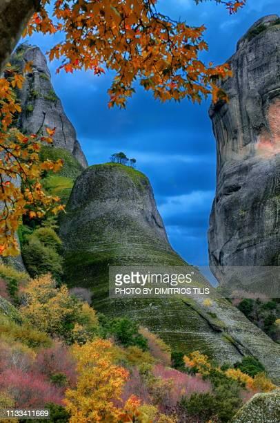 Meteora nature at fall colors