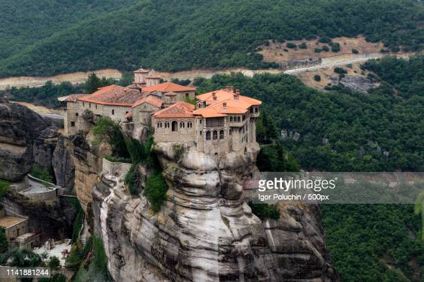 meteora - thessaly stock pictures, royalty-free photos & images