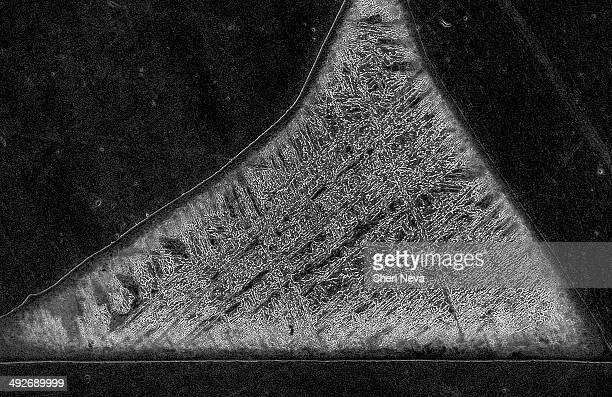 meteorite imaged in a scanning electron microscope - electron micrograph stock pictures, royalty-free photos & images