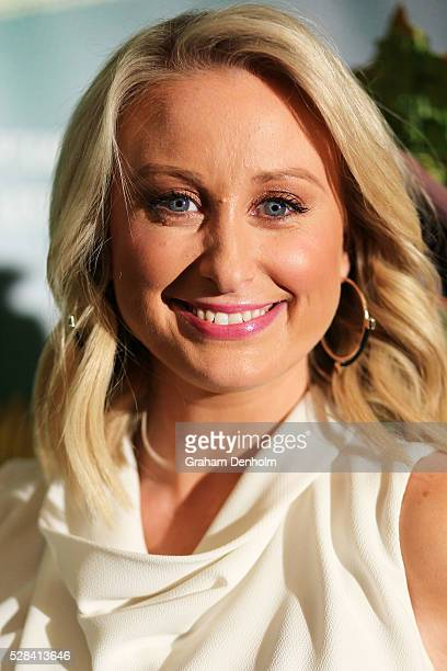Meteorologist and weather presenter Jane Bunn arrives ahead of opening night for the Little Shop of Horrors at the Comedy Theatre on May 5 2016 in...
