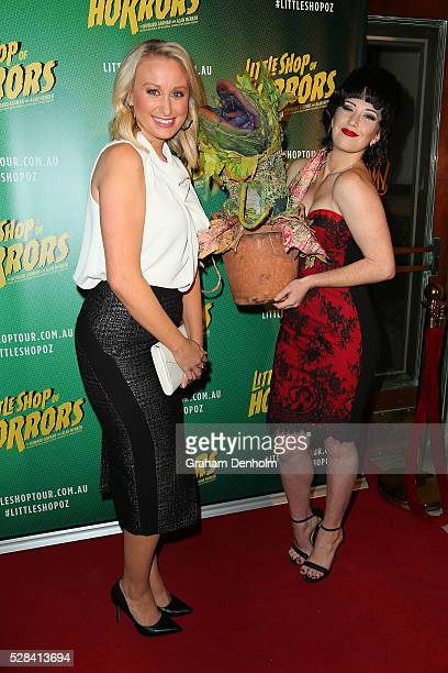 Meteorologist and weather presenter Jane Bunn arrives ahead of the opening night for the Little Shop of Horrors at the Comedy Theatre on May 5 2016...