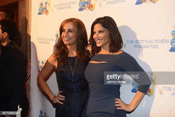 Meteorologist Audrey Puente and WNBC News anchor Darlene Rodriguez attend the 8th Annual Christian Rivera Foundation Celebrity Fundraiser at Broad...