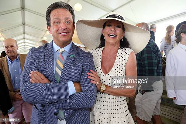 Meteorologist Bill Evans and founder of Le Bebe Coo Jessie Laiken attend the Le Bebe Coo Hampton Classic Horse Show Luncheon on August 31 in...