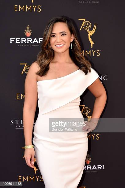 Meteorologist Shanna Mendiola attends the 70th Los Angeles Area Emmy Awards at Saban Media Center on July 28 2018 in North Hollywood California