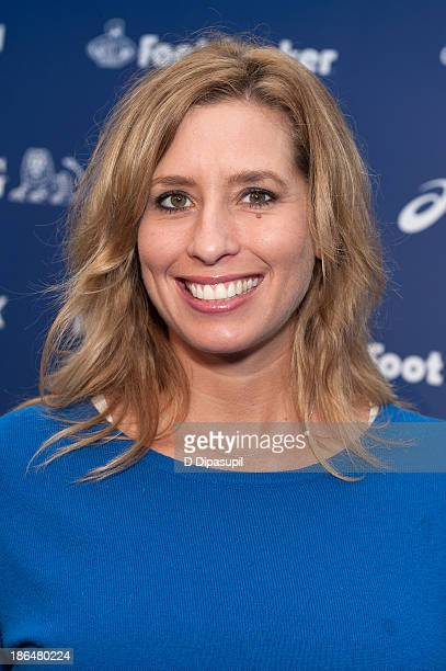 Meteorologist Stephanie Abrams attends the 2013 ING NYC Marathon press conference at the ING New York City Marathon Media Center on October 31 2013...