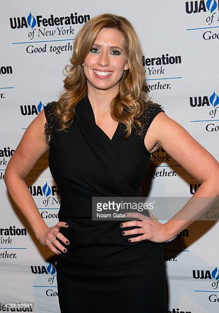 Meteorologist Stephanie Abrams attends the UJAFederation's 2014 Digital Media Award Celebration at The Edison Ballroom on March 4 2014 in New York...