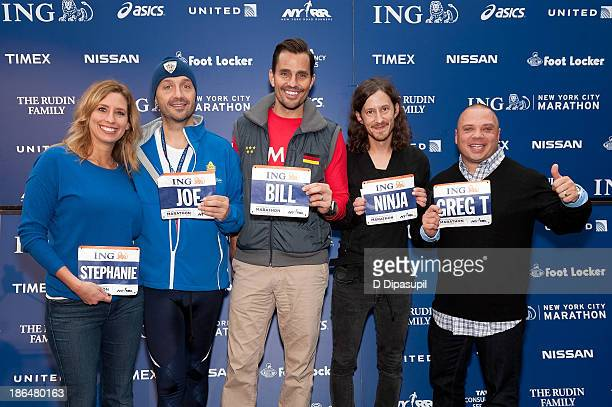Meteorologist Stephanie Abrams restauranteur Joe Bastianich entrepreneur Bill Rancic musician Fredrik Normark and radio personality Greg T attend the...