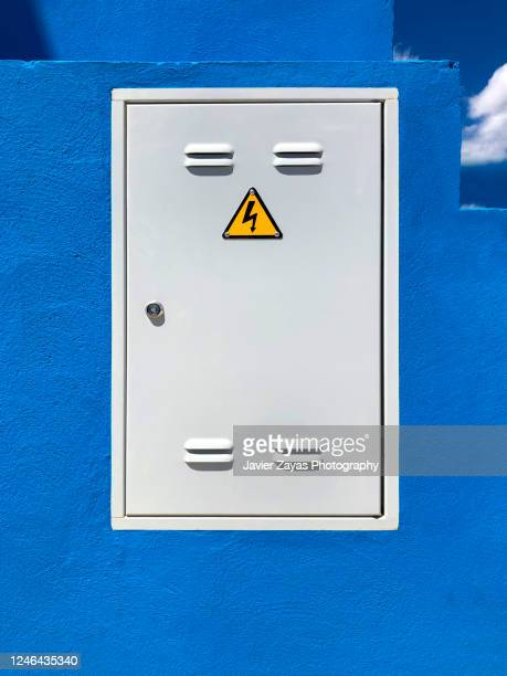 meter box for electrical equipment - electrical box stock pictures, royalty-free photos & images