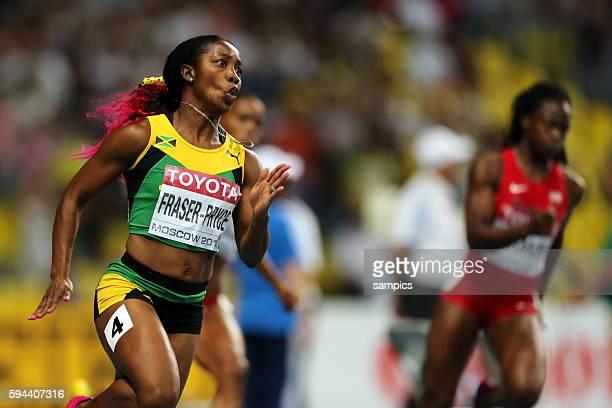200 Meter Finale der Frauen women Shelly Ann Fraser Pryce JAM world Champion Leichtathletik WM Weltmeisterschaft Moskau 2013 IAAF World Championships...