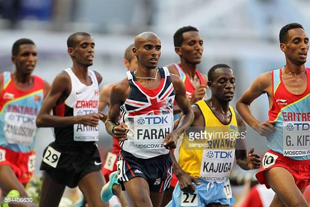 Meter Finale Männer men weltmeister world champion Mohamed Farah GBR Leichtathletik WM Weltmeisterschaft Moskau 2013 IAAF World Championships...