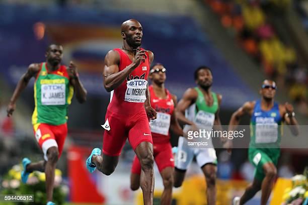 400 Meter Finale Weltmeister LaShawn Merritt USA Leichtathletik WM Weltmeisterschaft Moskau 2013 IAAF World Championships athletics moscow 2013...