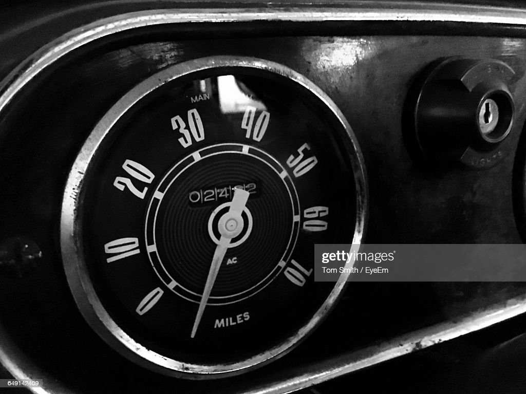 Meter In Fire Engine : Stock Photo