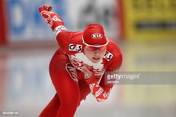 500 Meter Olga Fatkulina RUS Eischnelllauf WM Einzelstrecken 2011 in Inzell speed skating world championship 2011