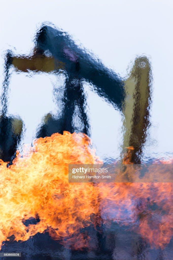 Methane burn : Stock Photo
