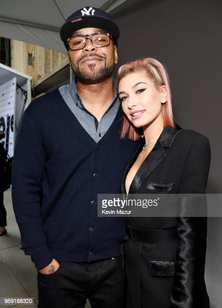 Method Man and Hailey Baldwin attend the Turner Upfront 2018 arrivals on the red carpet at The Theater at Madison Square Garden on May 16 2018 in New...