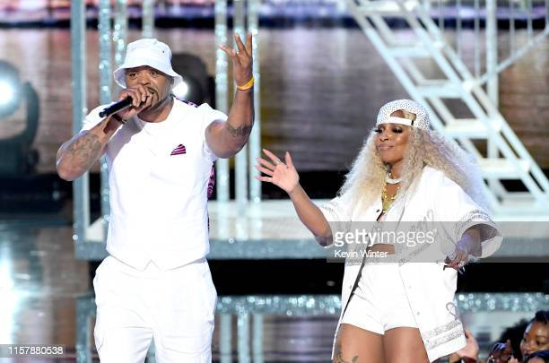 Method Man and Mary J Blige perform onstage at the 2019 BET Awards on June 23 2019 in Los Angeles California