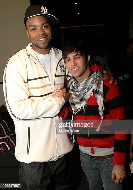 Method Man and Pete Wentz of Fall Out Boy during 2006 MTV Video Music Awards SIRIUS Suites Produced by On 3 Productions Day 1 at W HotelTimes Square...