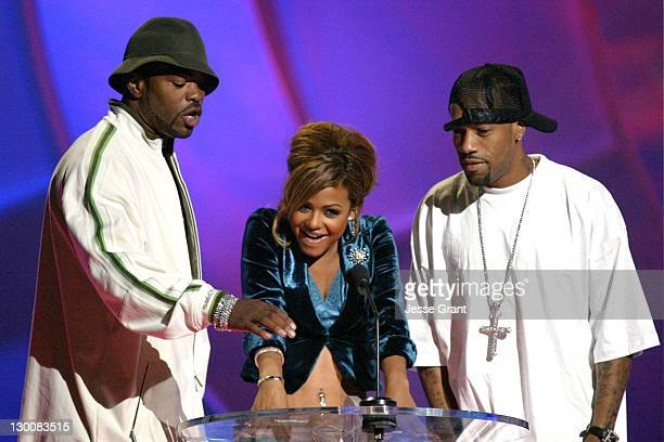 Method Man Christina Milian and Redman during The 2004 Teen Choice Awards Show at Universal Amphitheatre in Universal City California United States
