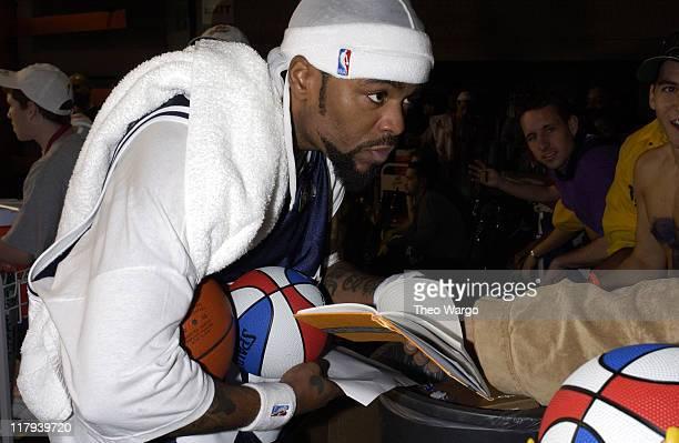 Method Man during MTV's Rock 'N Jock NBA AllStar Jam at Philadelphia Convention Center in Philadelphia Pennsylvania United States
