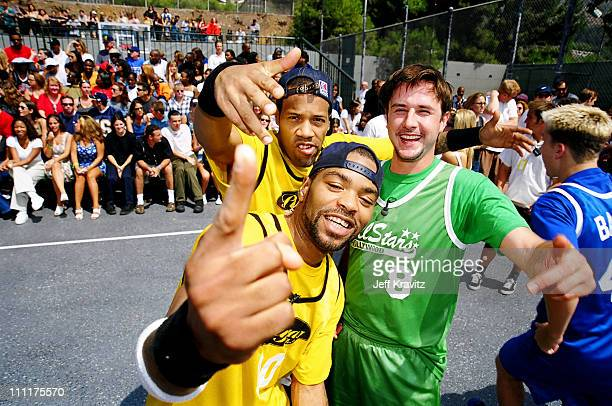 Method Man Red Man and David Arquette during 1998 MTV's Rock n' Jock Basketball in Los Angeles California United States