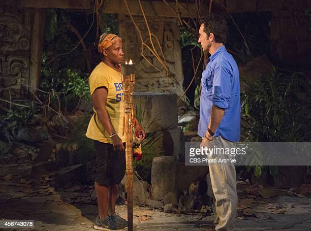 'Method To This Madness' Jeff Probst gets ready to extinguish Val Collins's flame at Tribal Council during the second episode of Survivor 29...