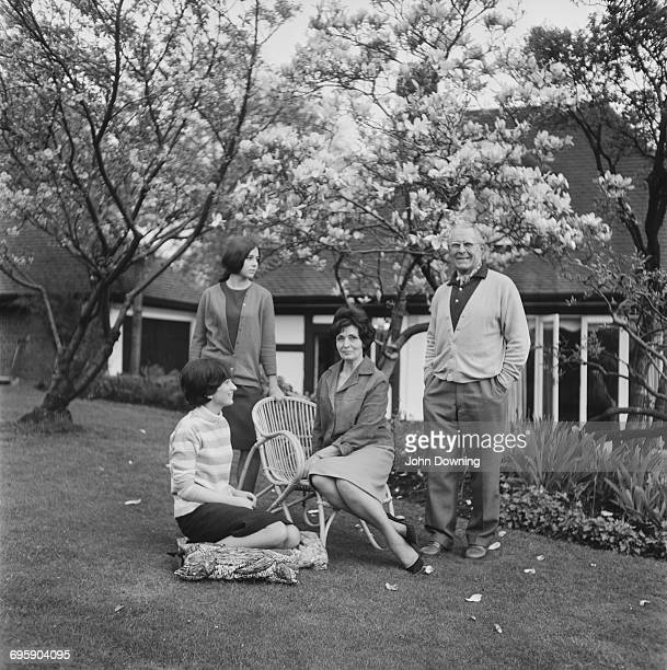 Methodist minister Dr Donald Soper with his wife and family UK 30th April 1965 He became a life peer shortly after as Baron Soper