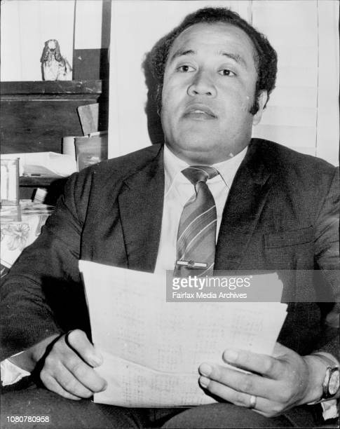 Methodist Minister Mr Jione Langi from Haberfield photographed at his home Rogers Avenue Haberfield tonight April 5 1974