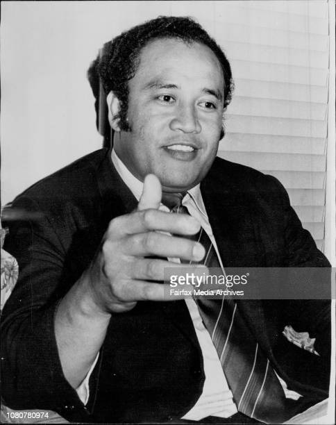 Methodist Minister Mr. Jione Langi, from Haberfield, photographed at his home, Rogers Avenue Haberfield tonight. April 5, 1974. .