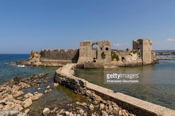 Methoni Castle on August 13, 2020 in Methoni, Greece.