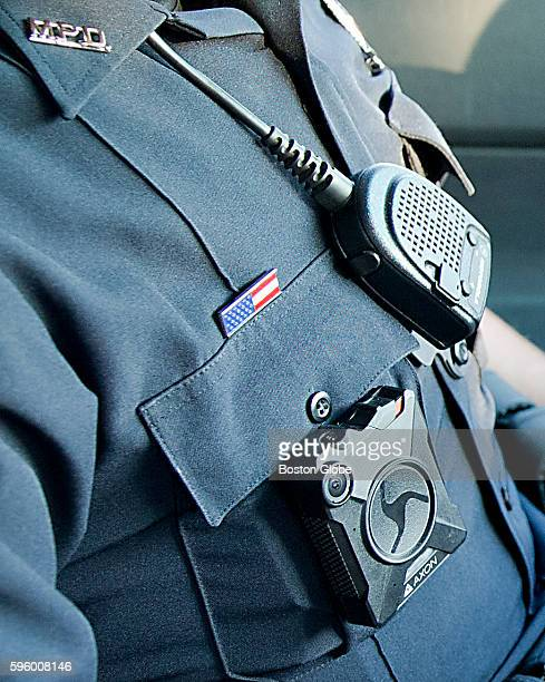 Methuen police officer Nick Conway wore a body camera on Saturday August 20 2016 In May the Methuen Police Department with little fuss became the...
