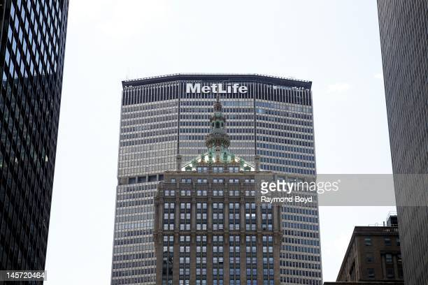 MetLife Building and the top of the Helmsley Building, in New York, New York on MAY 11, 2012.