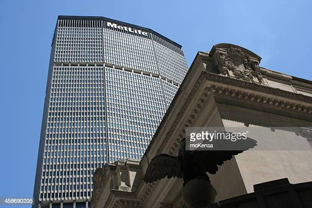 metlife building, manhattan, new york - metlife building stock pictures, royalty-free photos & images